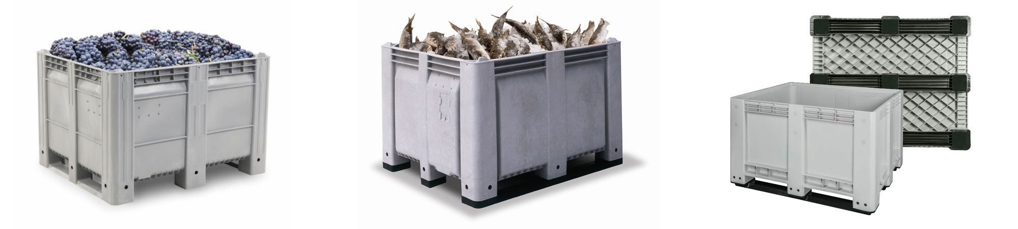 non insulated bins - fish Totes